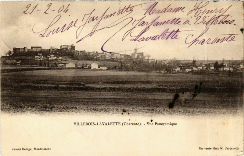 Carte postale ancienne Charente Villebois-Lavalette Panorama à Villebois-Lavalette