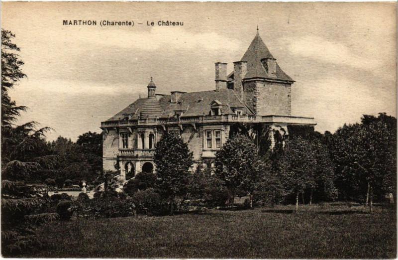 Carte postale ancienne Marthon (Charente) - Le Chateau à Marthon