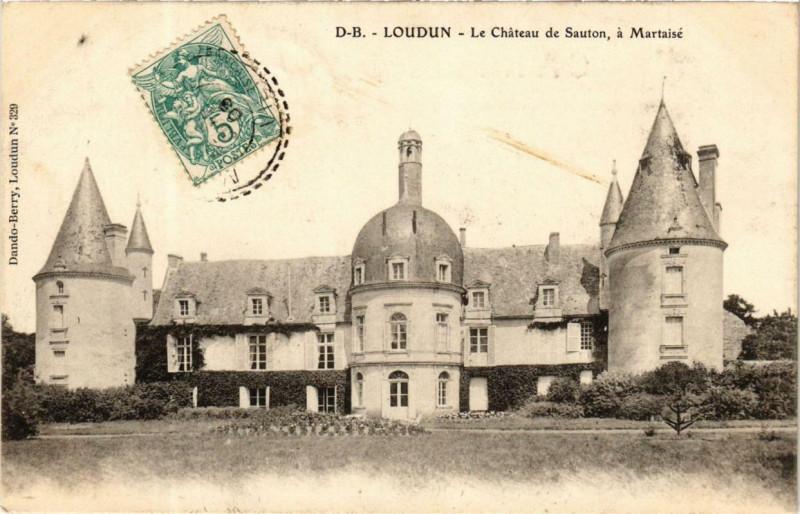 Carte postale ancienne Loudun Le Chateau de Sauton, a Martaise à Loudun