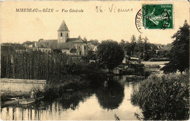 Carte postale ancienne Mirebeau-s-Béze - Vue Générale à Mirebeau