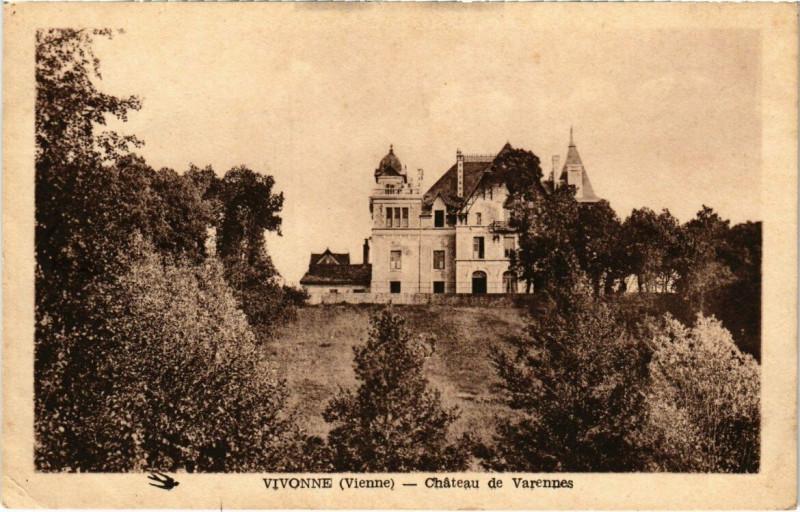 Carte postale ancienne Vivonne - Chateau de Varennes à Vivonne