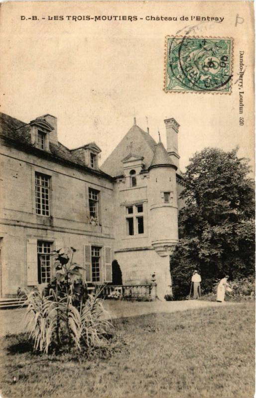 Carte postale ancienne Les Trois-Moutiers - Chateau de l'Entray aux Trois-Moutiers