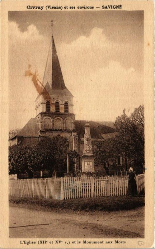 Carte postale ancienne Civray et ses Env. - Savigne à Civray