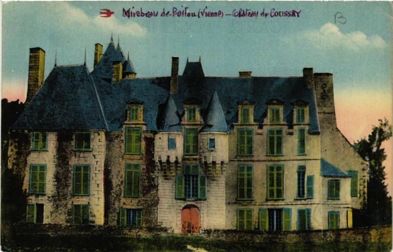 Carte postale ancienne Mirebeau de Poiton - Chateau de Coussay à Mirebeau