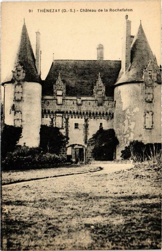 Carte postale ancienne Thenezay - Chateau de la Rochefaton à Thénezay