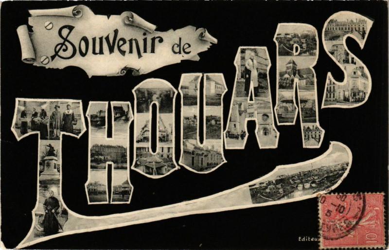 Carte postale ancienne Souvenir de Thouars à Thouars