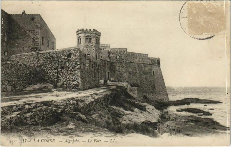 Carte postale ancienne Algajola - Le Fort Corsica - Corse à Algajola