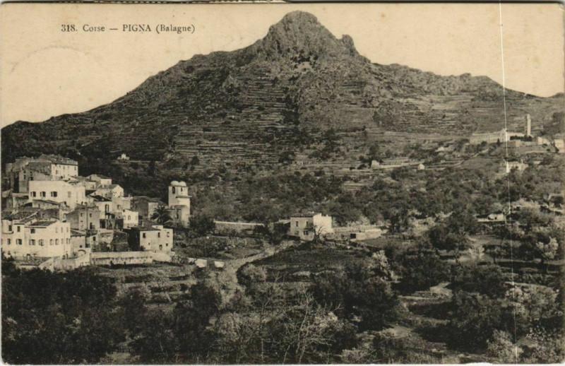 Carte postale ancienne Pigna - Balagne - Vue Generale Corsica - Corse à Pigna