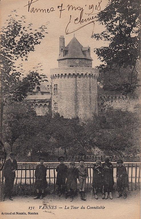 Carte postale ancienne 171. Vannes - La Tour du Connétable (c.1915)  à Vannes