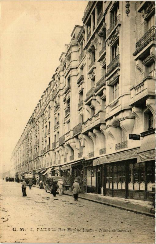 Carte postale ancienne Rue Eugene Jumin - Numéros impairs à Paris 19e