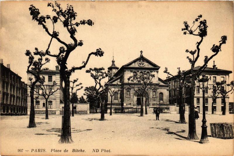Carte postale ancienne Place de Bitche à Paris 19e