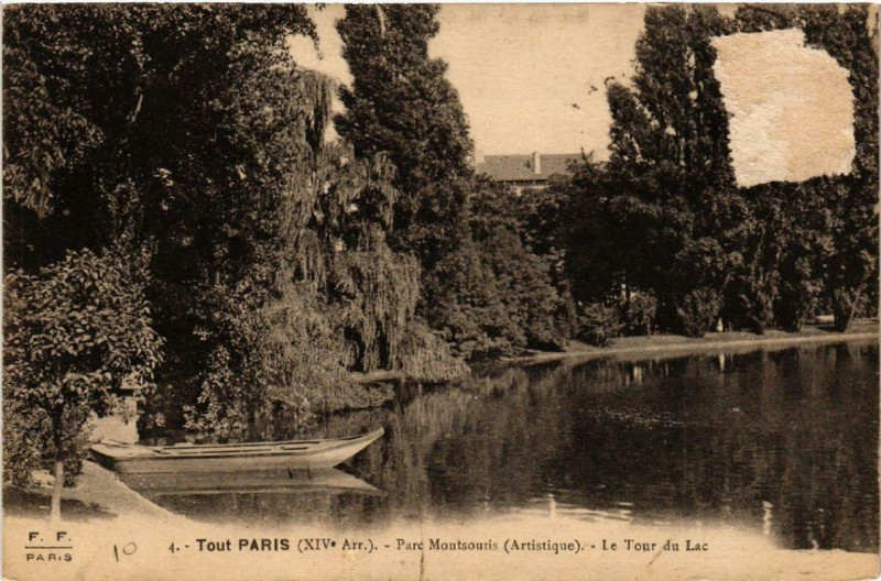 Carte postale ancienne Parc Montsouris - Le Tour du Lac à Paris 14e
