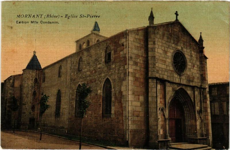 Carte postale ancienne Mornant - Eglise Saint-Pierre à Mornant