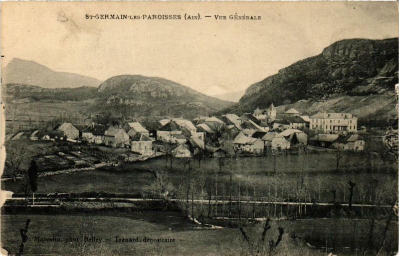 Carte postale ancienne Saint-Germain-les-Paroisses Vue générale à Saint-Germain-les-Paroisses