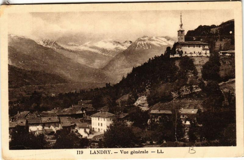 Carte postale ancienne Landry - Vue générale à Landry