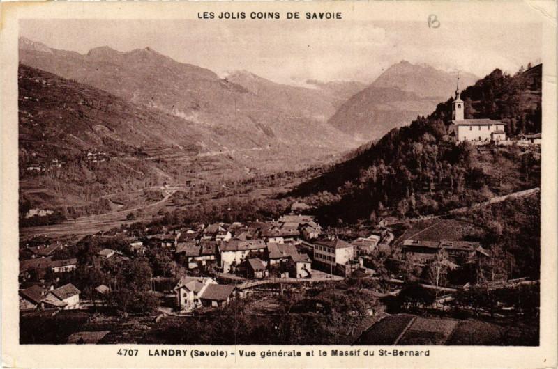 Carte postale ancienne Les Jolis Coins de Savoie - Landry - Vue générale et .. à Landry
