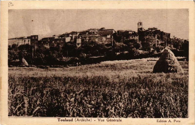Carte postale ancienne Toulaud. Vue générale à Toulaud