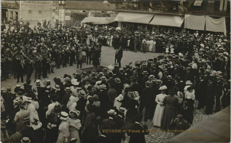 Carte postale ancienne Vernon Foire et Fetes de Sept. 1903 à Vernon