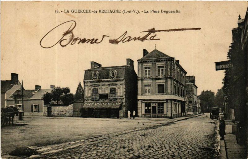 Carte postale ancienne La Guerche-de-Bretagne - La Plage Duguesclin à La Guerche-de-Bretagne