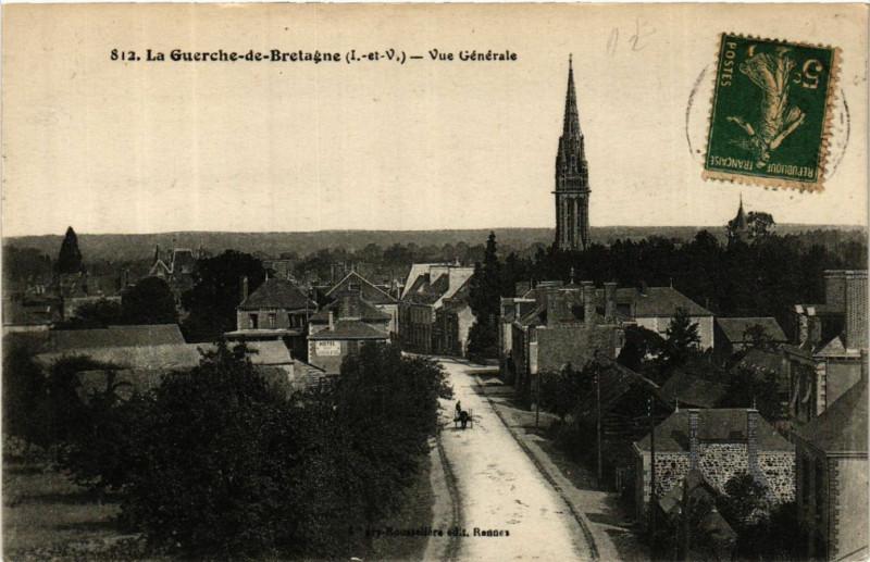 Carte postale ancienne La Guerche-de-Bretagne - Vue générale à La Guerche-de-Bretagne