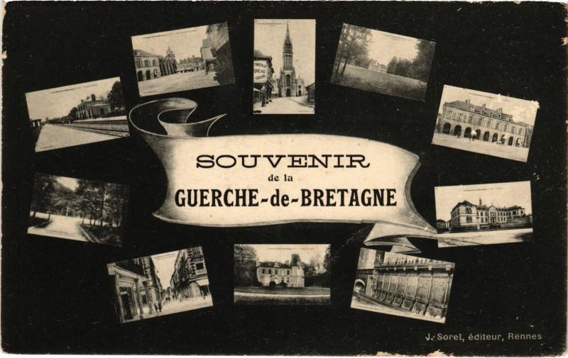 Carte postale ancienne Souvenir de la Guerche-de-Bretagne à La Guerche-de-Bretagne