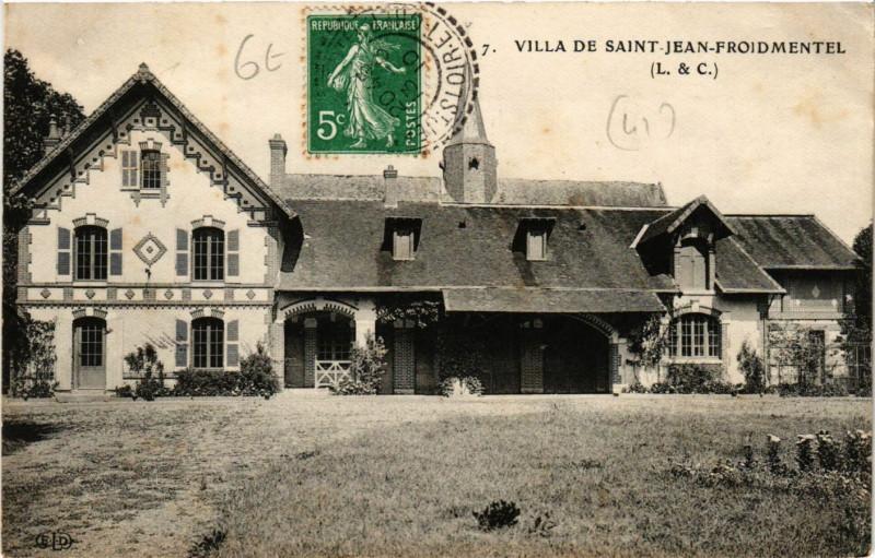 Carte postale ancienne Villa de Saint-Jean-Froidmentel à Saint-Jean-Froidmentel