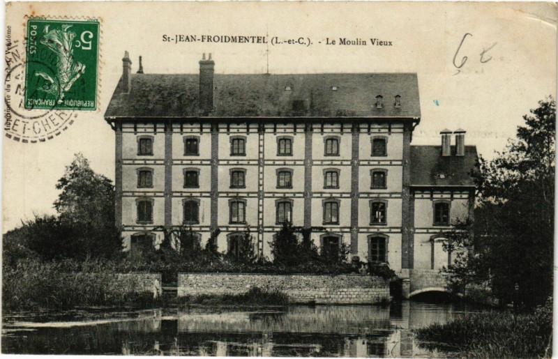 Carte postale ancienne Saint-Jean-Froidmentel - Le Moulin Vieux à Saint-Jean-Froidmentel