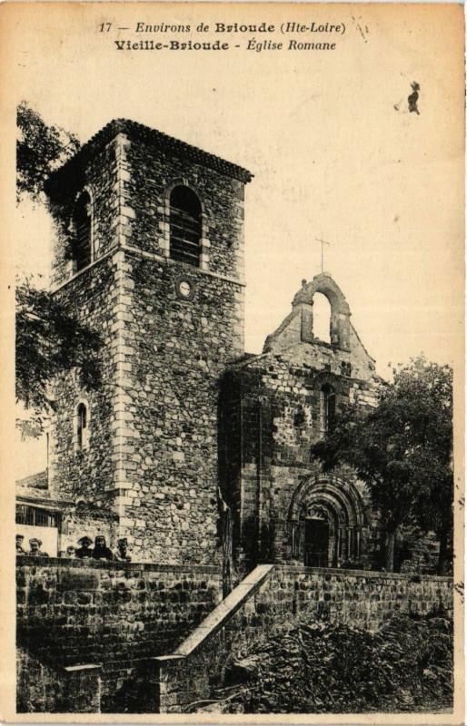 Carte postale ancienne Vieille-Brioude - Eglise Romane - Env. de Brioude à Vieille-Brioude