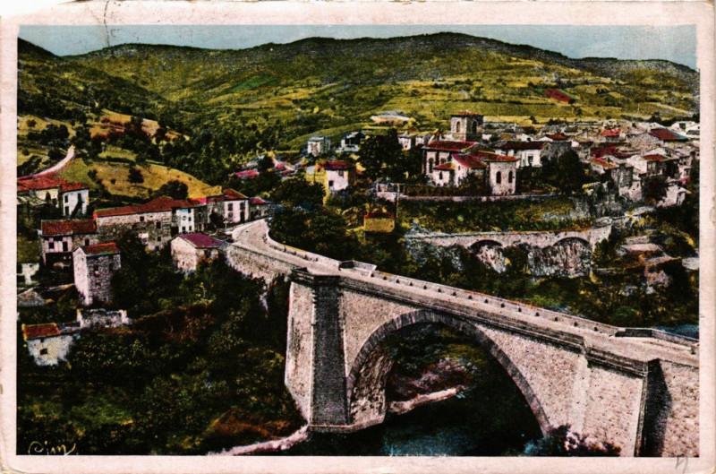 Carte postale ancienne Vieille-Brioude - Vue d'Ensemble à Vieille-Brioude