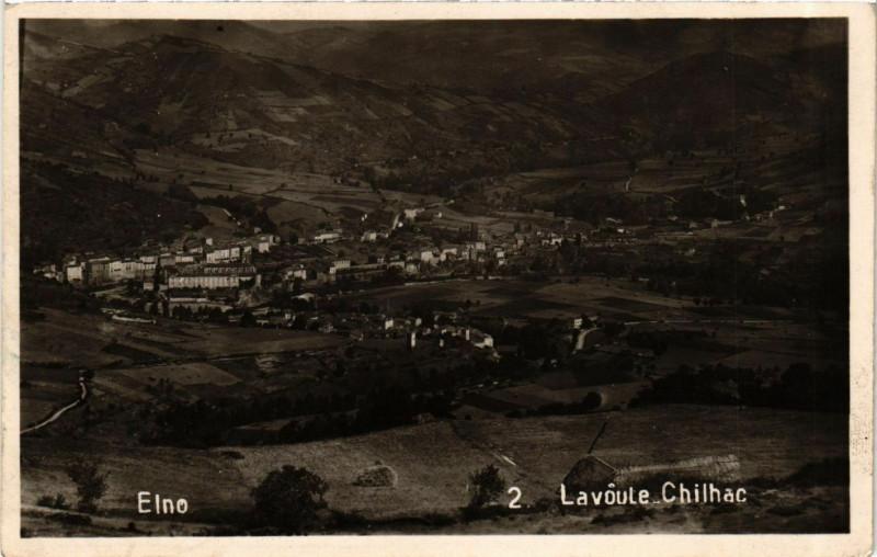 Carte postale ancienne Lavoute-Chilhac - Vue générale prise de Soulhac à Lavoûte-Chilhac