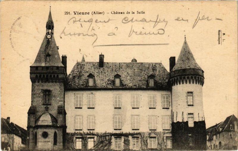 Carte postale ancienne Vieure Chateau de la Salle à Vieure