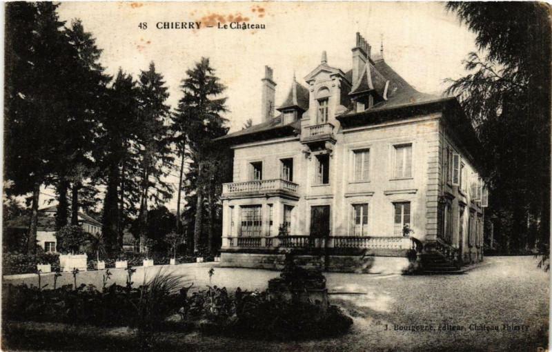 Carte postale ancienne Chierry. Le Chateau à Chierry