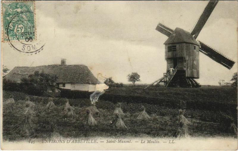 Carte postale ancienne Saint-Maxent Le Moulin à Saint-Maxent