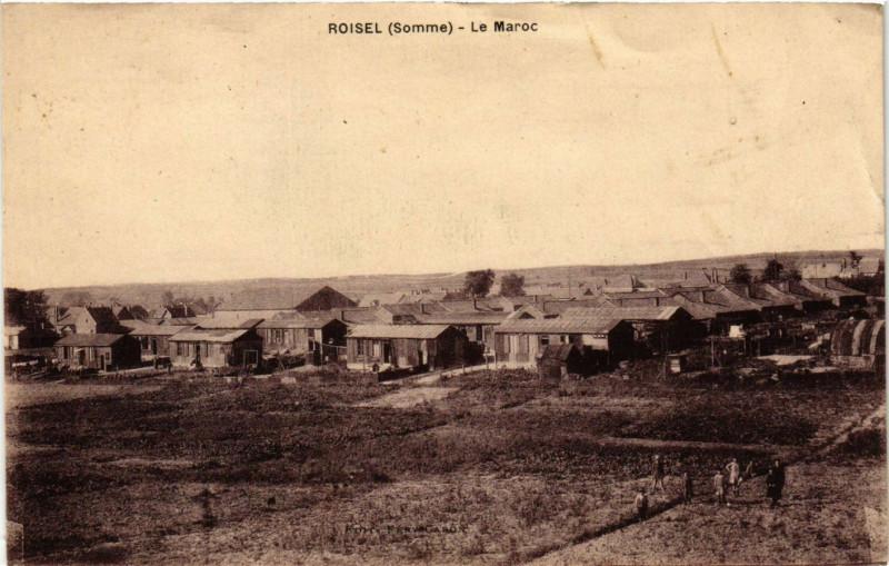 Carte postale ancienne Roisel - Le Maroc à Roisel