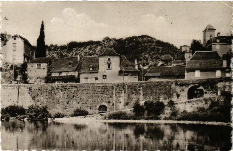 Carte postale ancienne Larnagol - Vue pise du Lot à Larnagol