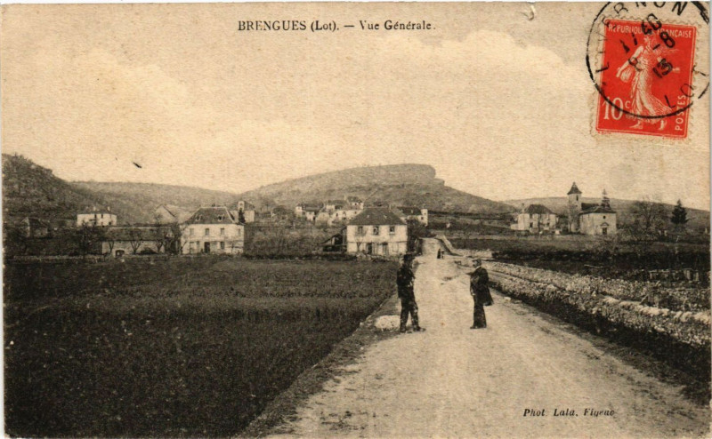 Carte postale ancienne Brengues - Vue générale à Brengues