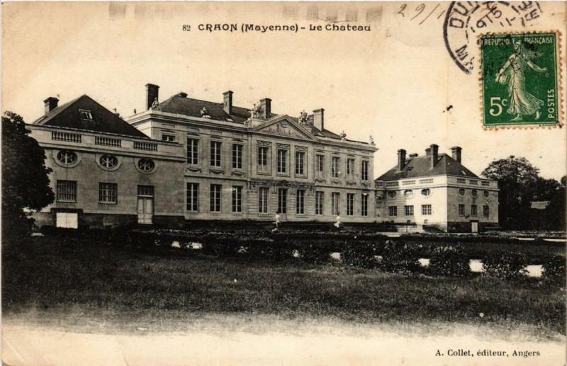 Carte postale ancienne Craon Le Chateau à Craon