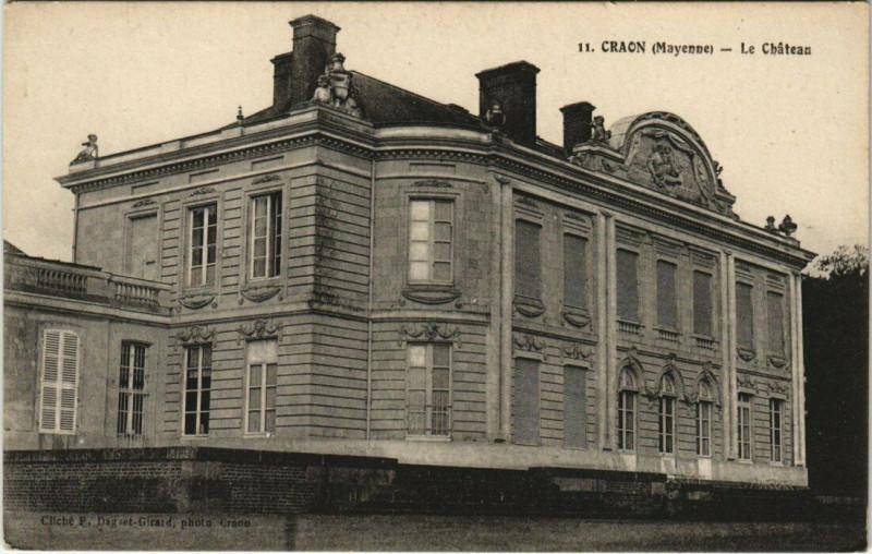 Carte postale ancienne Craon - Le Chateau à Craon
