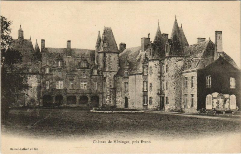 Carte postale ancienne Chateau de Mezanger pres Evron à Évron