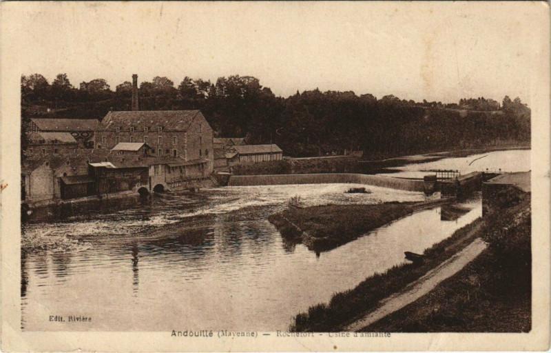 Carte postale ancienne Andouille - Rochetort .- Osire d'amiante à Andouillé