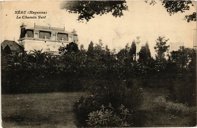 Carte postale ancienne Neau - Le Chemin Vert à Neau