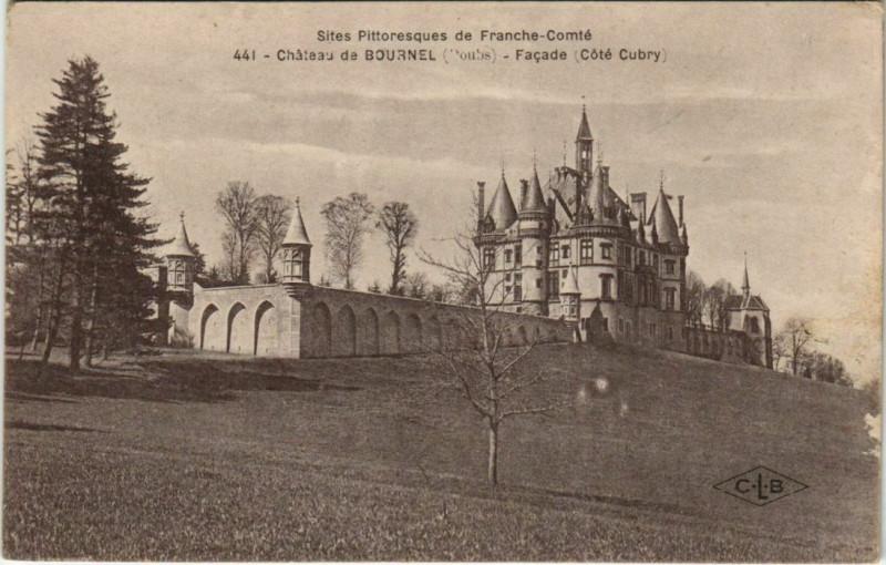Carte postale ancienne Cubry Chateau de Bournel - Facade - Cote Cubry à Cubry