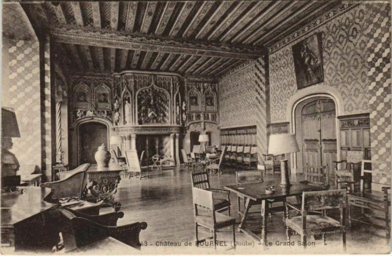 Carte postale ancienne Cubry Chateau de Bournel - Le Grand Salon à Cubry