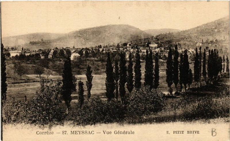 Carte postale ancienne Meyssac - Vue générale à Meyssac