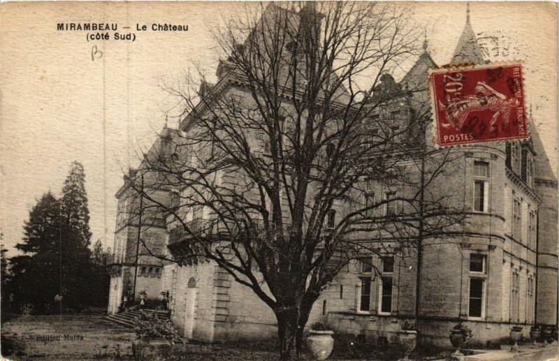 Carte postale ancienne Mirambeau Le Chateau à Mirambeau