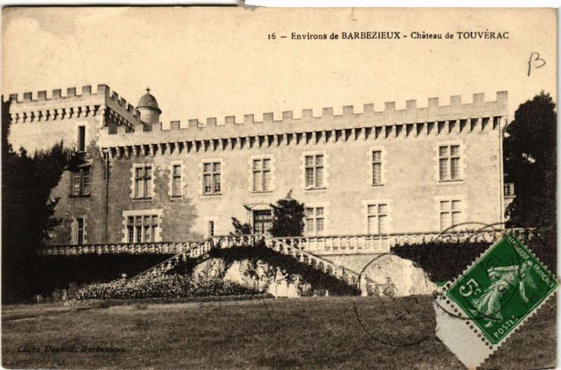 Carte postale ancienne Env. de Barbezieux - Chateau de Touverac à Touvérac