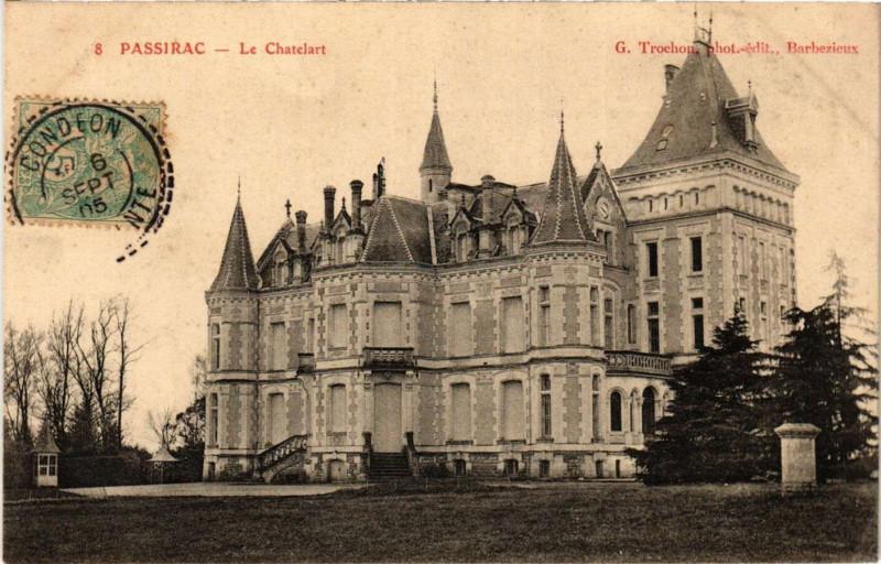 Carte postale ancienne Passirac - Le Chatelart à Passirac