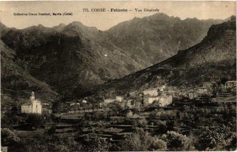 Carte postale ancienne Corse - Feliceto vue générale à Feliceto