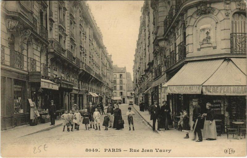 Carte postale ancienne Rue Jean Vaury à Paris 14e