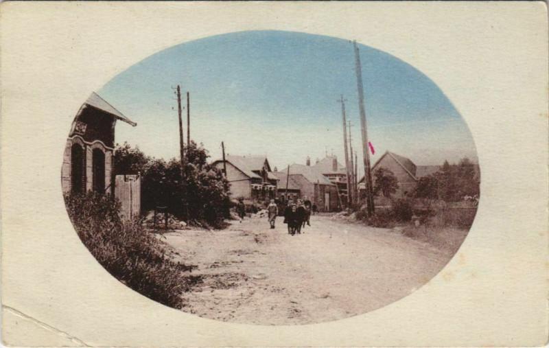 Carte postale ancienne Ronssoy Rue Neuve à Ronssoy